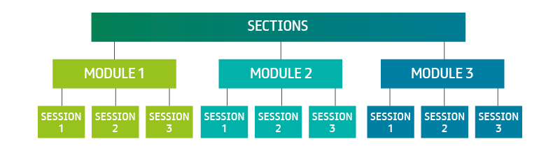 E-Learning structure